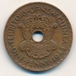 New Guinea, 1 penny, 1938–1944