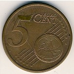 Germany, 5 euro cent, 2002–2018