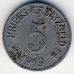 Крефельд., 5 пфеннигов (1919 г.)