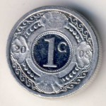Antilles, 1 cent, 1989–2009