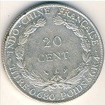 French Indo China, 20 cents, 1921–1930