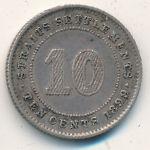 Стрейтс-Сетлментс, 10 центов (1897–1899 г.)