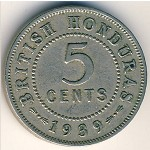 British Honduras, 5 cents, 1939