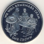 Ascension Island, 1 crown, 2014