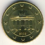 Germany, 10 euro cent, 2002–2006