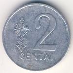 Литва, 2 цента (1991 г.)