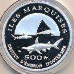 Marquesas Islands, 500 francs, 2014