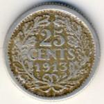 Нидерланды, 25 центов (1913–1918 г.)