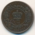 Nova Scotia, 1/2 cent, 1861–1864