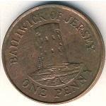 Jersey, 1 penny, 1994–1997