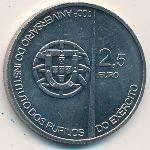 Португалия, 2 1/2 евро (2011 г.)