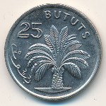 The Gambia, 25 bututs, 1971