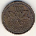 Канада, 1 цент (1982–1989 г.)