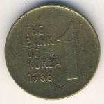 Южная Корея, 1 вон (1966 г.)