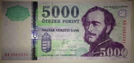 Венгрия, 5000 форинтов (2010 г.)