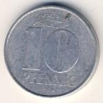 ГДР, 10 пфеннигов (1965–1980 г.)