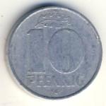 ГДР, 10 пфеннигов (1965–1979 г.)