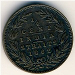 Straits Settlements, 1/4 cent, 1862