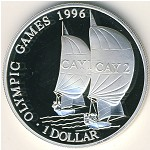 Cayman Islands, 1 dollar, 1996
