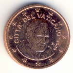 Vatican City, 1 euro cent, 2006–2013