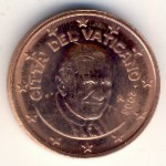 Vatican City, 2 euro cent, 2006–2013