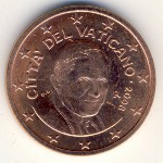 Vatican City, 5 euro cent, 2006–2013