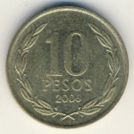 Чили, 10 песо (1992–2015 г.)