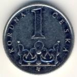 Чехия, 1 крона (1993–2009 г.)