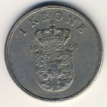 Дания, 1 крона (1962–1967 г.)