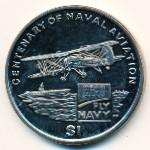 Виргинские острова, 1 доллар (2009 г.)