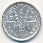 Австралия, 3 пенса (1955–1964 г.)