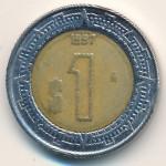 Мексика, 1 песо (1996–2013 г.)