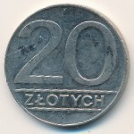 Польша, 20 злотых (1989–1990 г.)