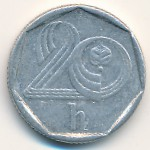 Чехия, 20 гелеров (1993–1997 г.)