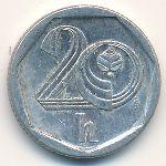 Чехия, 20 гелеров (1998–2001 г.)