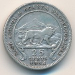East Africa, 25 cents, 1912–1918
