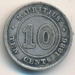 Маврикий, 10 центов (1886 г.)