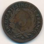 Доминиканская республика, 5 сентесимо (1891 г.)