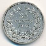 Нидерланды, 25 центов (1848 г.)
