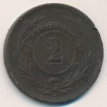 Уругвай, 2 сентесимо (1869 г.)