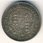 British West Indies, 1/16 dollar, 1820–1822