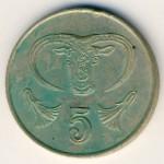 Кипр, 5 центов (1985–1990 г.)