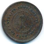 Стрейтс-Сетлментс, 1 цент (1897–1901 г.)
