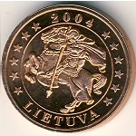 Lithuania, 5 euro cent, 2004