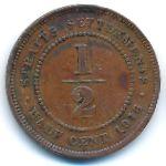 Стрейтс-Сетлментс, 1/2 цента (1916 г.)