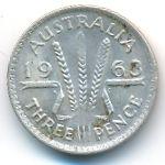 Австралия, 3 пенса (1963 г.)