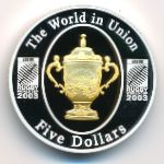 Австралия, 5 долларов (2003 г.)