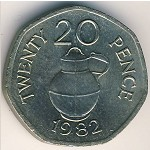 Guernsey, 20 pence, 1982–1983