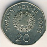 Guernsey, 20 pence, 1985–1997