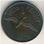 Guernsey, 1 new penny, 1971